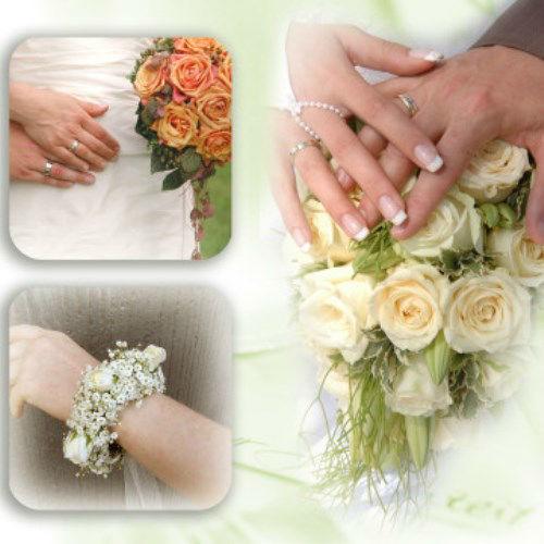 Beispiel: Hochzeitsfloristik, Foto: AZ- Floristik und Dekoration.