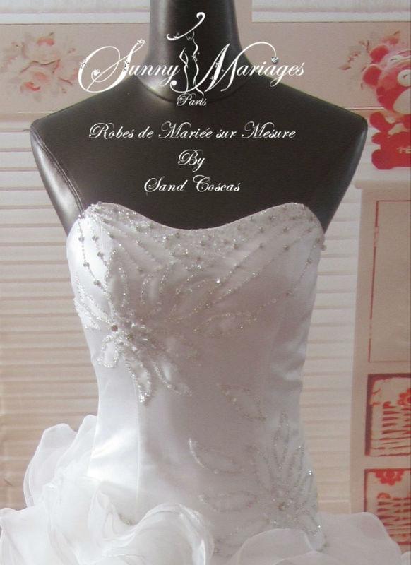 robe de mariee bustier coeur et jupe frou frou http://sunymariages.com