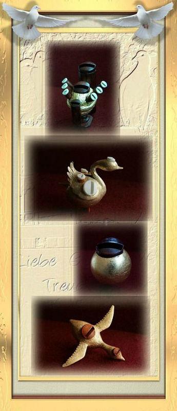 Beispiel: Taubenflöten, Foto: Hochzeitstaubenservice Deubelli.