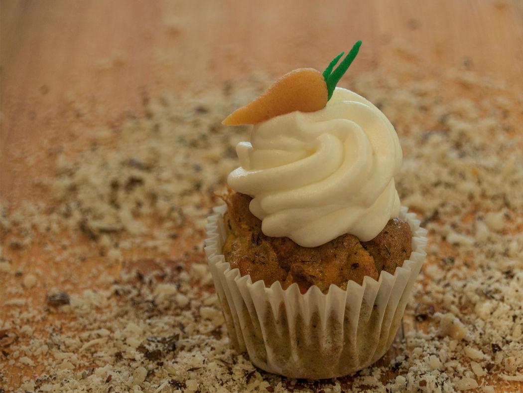 Beispiel: Rübli-Nuss Cupcake, Foto: tigertörtchen Café.