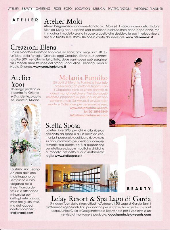 Melania Fumiko su Vogue Sposa Gennaio 2017 - Diario di un Matrimonio