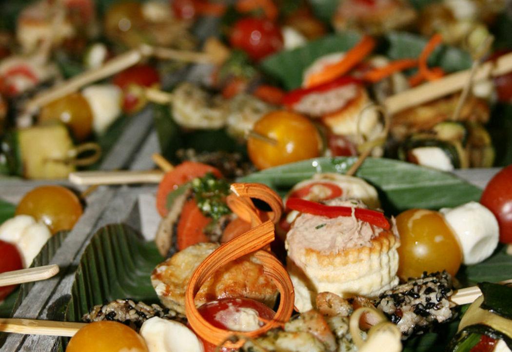 Beispiel: Gemischte Fingerfoods, Foto: GLAD Catering&more.