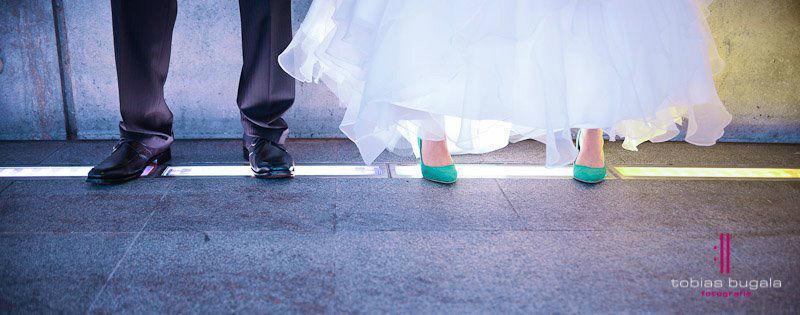 Beispiel: Kunstvolle Hochzeitsfotografie, Foto: Tobias Bugala Fotografie.