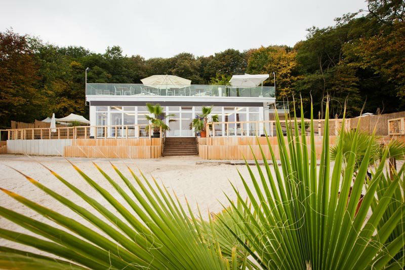Beispiel: Ansicht vom Strand, Foto: Seepavillon.
