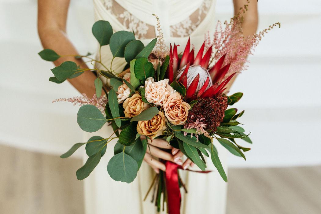 Букет невесты  Свадьба Retro