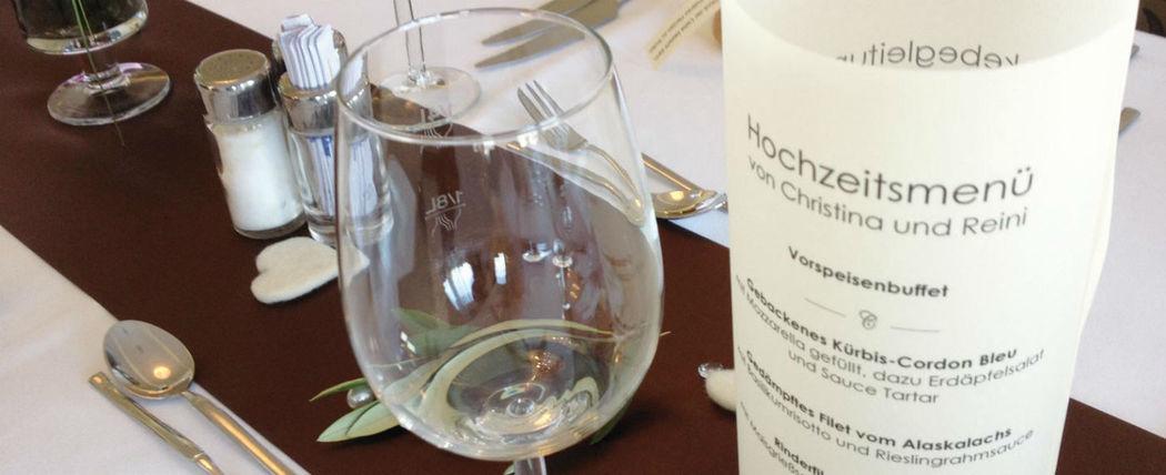 Beispiel: Ihr persönliches Hochzeitsmenü, Foto: Hotel Chirstkindlwirt.