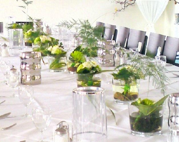 Beispiel: Blumenschmuck für Ihr Hochzeitsbankett, Foto: Blumen Michael Winter.