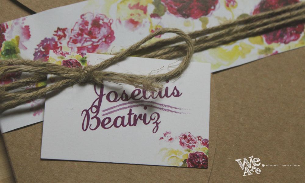 Invitaciones de Boda. Florales.