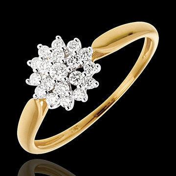 Beispiel: Goldring mit Diamantenblüte, Foto: Edenly.