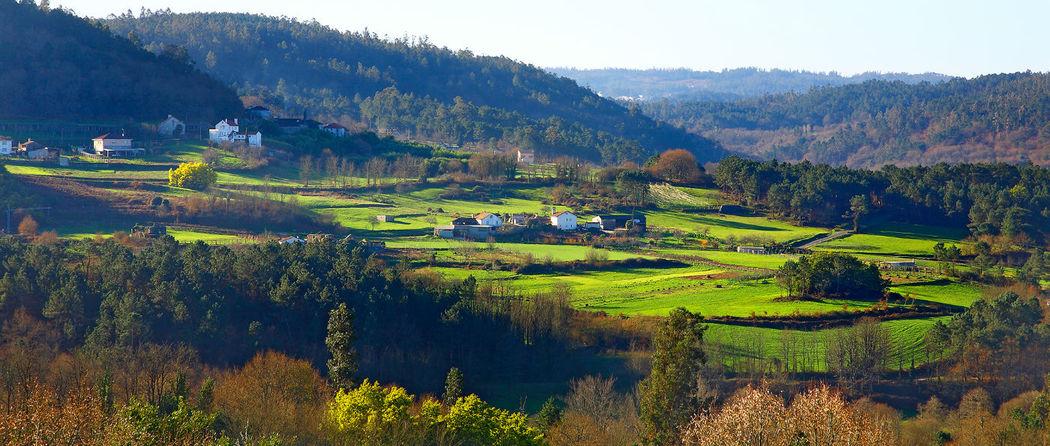 Panorámica del valle desde el Pazo de Ximonde