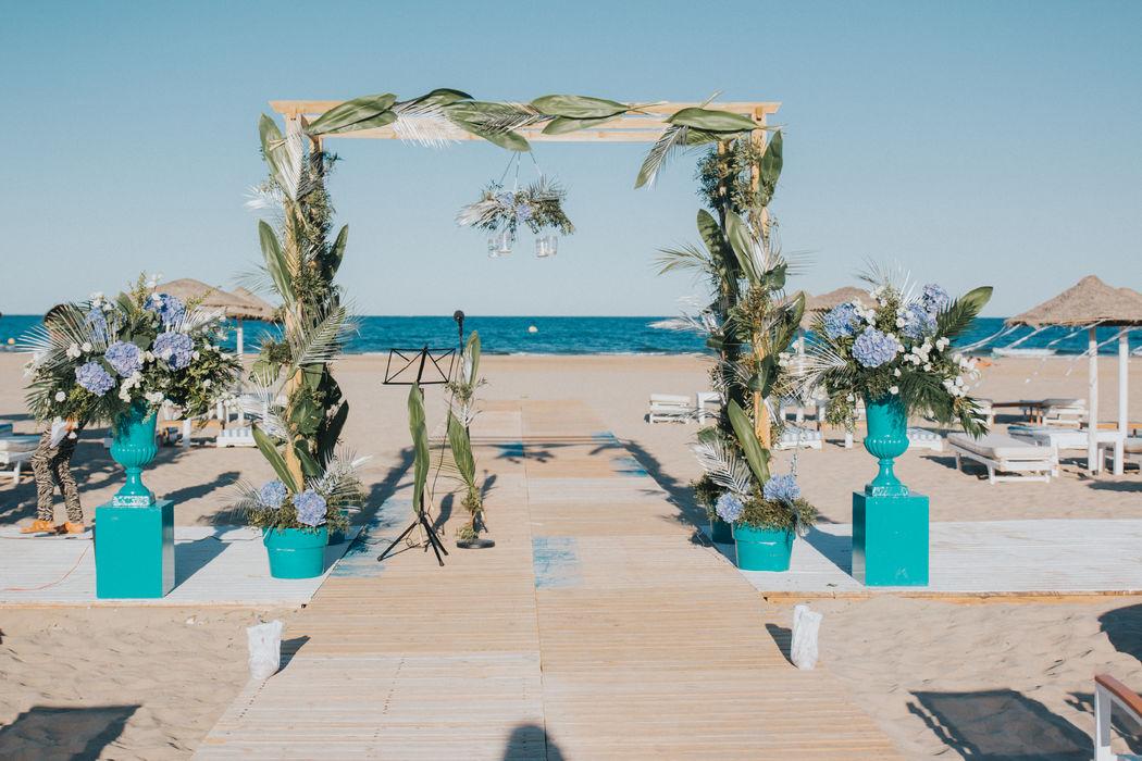 Boda en la Playa de Diego y Silvia