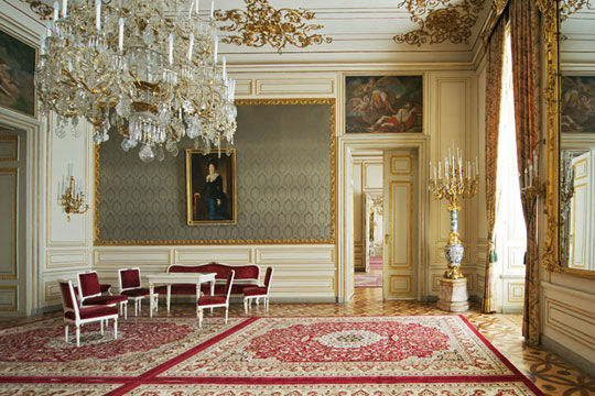 Beispiel: Grüner Salon, Foto: Palais Pallavicini.