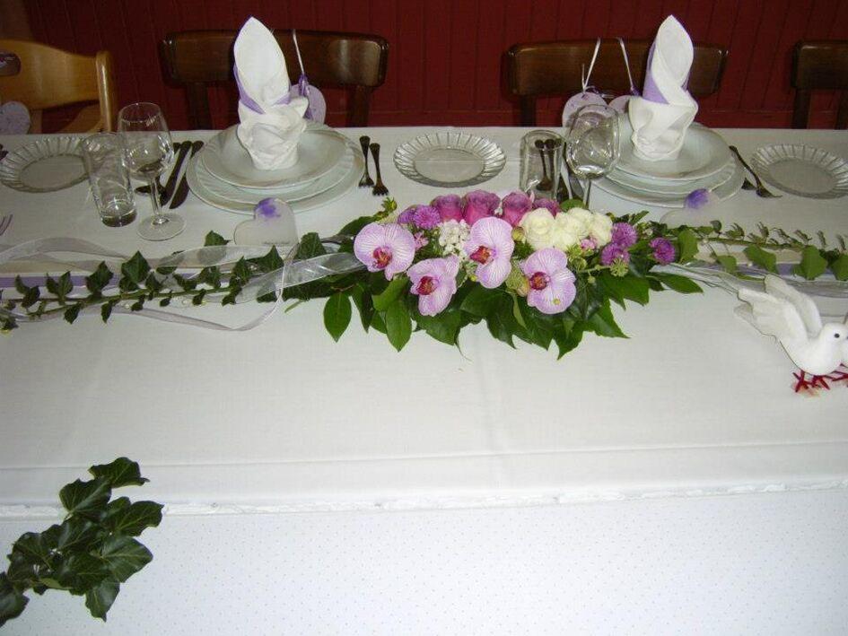 Beispiel: Tischdekoration, Foto: Gartencenter Burgenland.