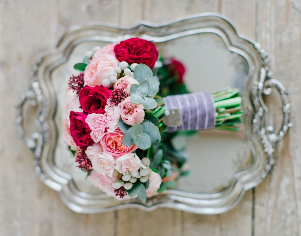 Букет невесты с пионовидными розами Флорист Кристина Каберне Фото Жанна Теплова