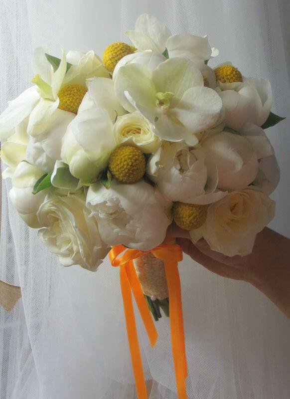 Bouquet jaune et blanc