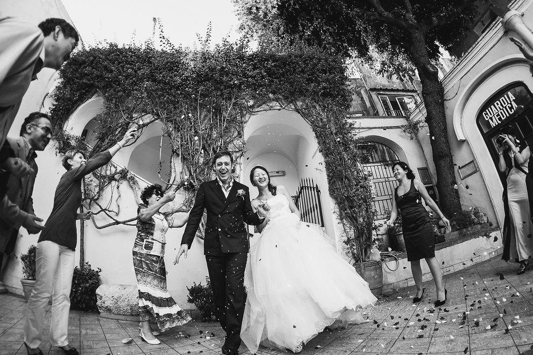 Свадебная церемония на Капри, Италия