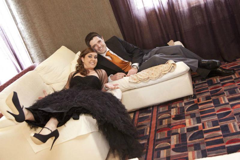 En casa, antes de la boda