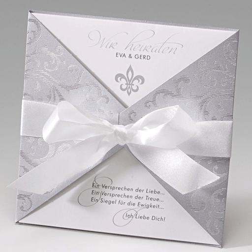 Beispiel: Hochzeitseinladungen mit schönem Layout, Foto: Der-hochzeitskartenshop.de.