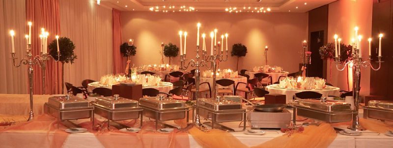 Beispiel: Hochzeitsbuffet, Foto: Atrium Mainz.
