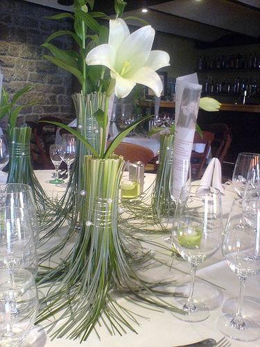 Beispiel: Tischdekoration, Foto: Blumen Piazza.
