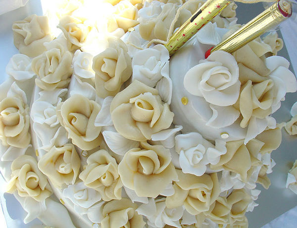 Beispiel: Hochzeitstorte, Foto: Wenckeschmid.