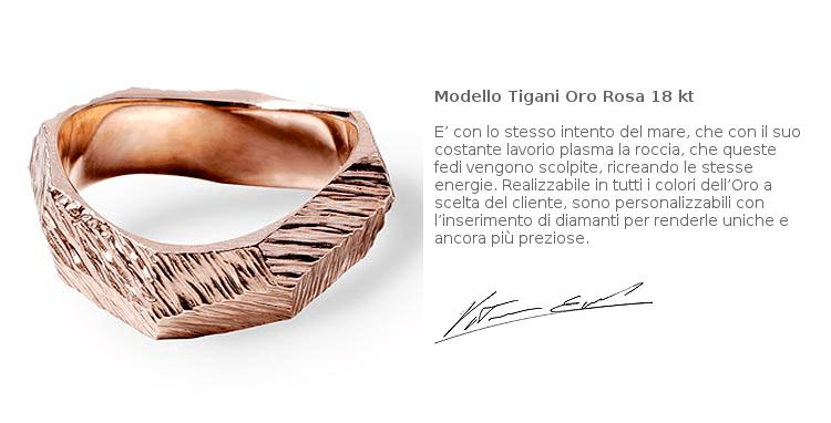 Fedi Matrimoniali Efrem Guidi Oro rosa LGBT community Wedding Italy Milano Brera Modello Tigani