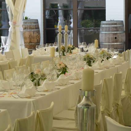 Beispiel: Hochzeitstafel, Foto: Landhaus am See.