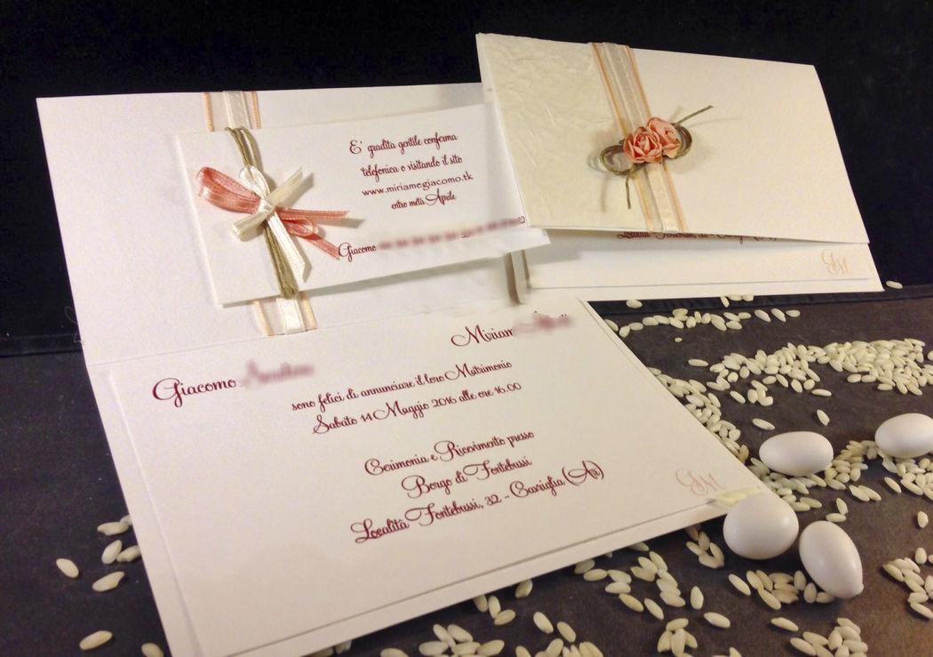 Partecipazione nozze naturale fiori e corsa www.stampaecrea.it