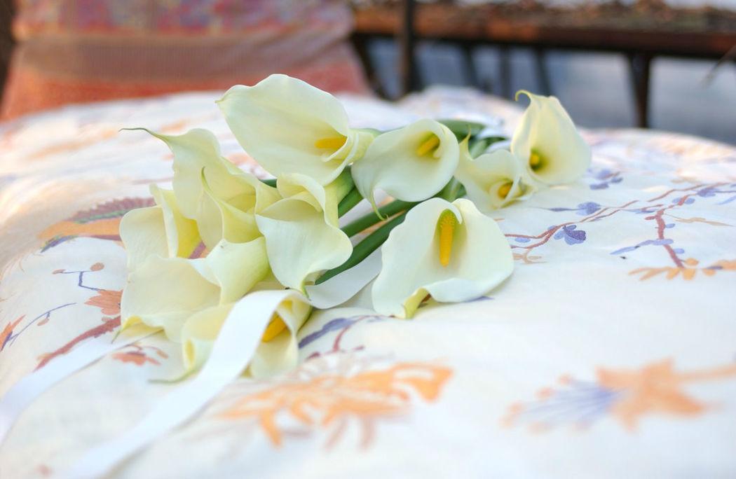 Beispiel: Tischdekoration, Foto: Blumenland Engler.