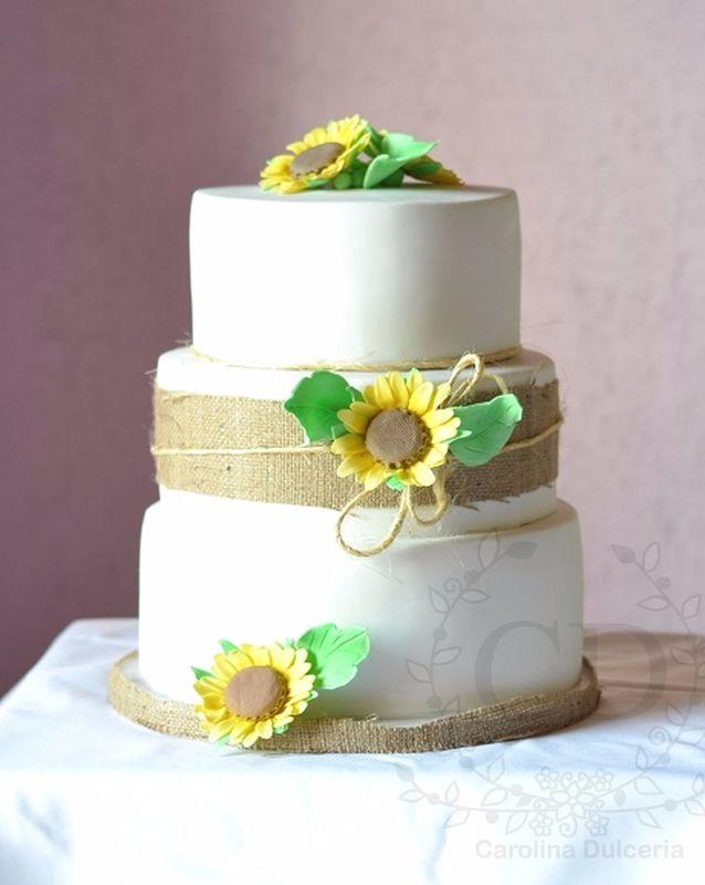 Torta girasoles azúcar