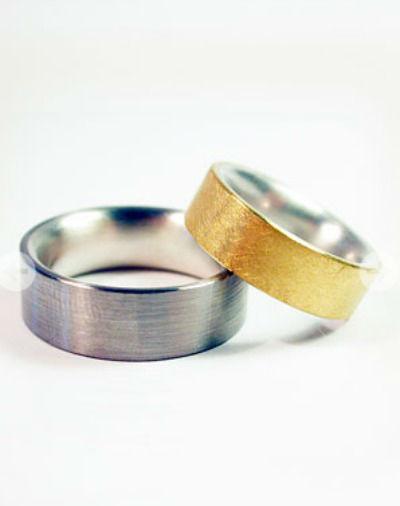 Beispiel: Trauringe - Palladium/Silber/Feingold, Foto: detail3.