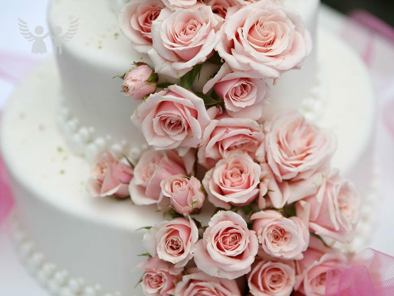 Beispiel: Die schönste Hochzeitstorte, Foto: Die Engel der Hochzeit.