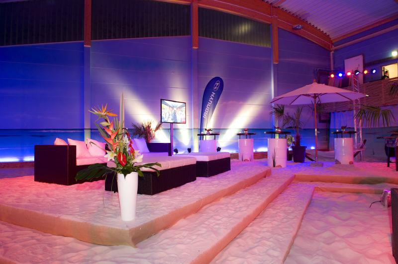 Beispiel: Loungebereich, Foto: BeachCenter Hamburg.