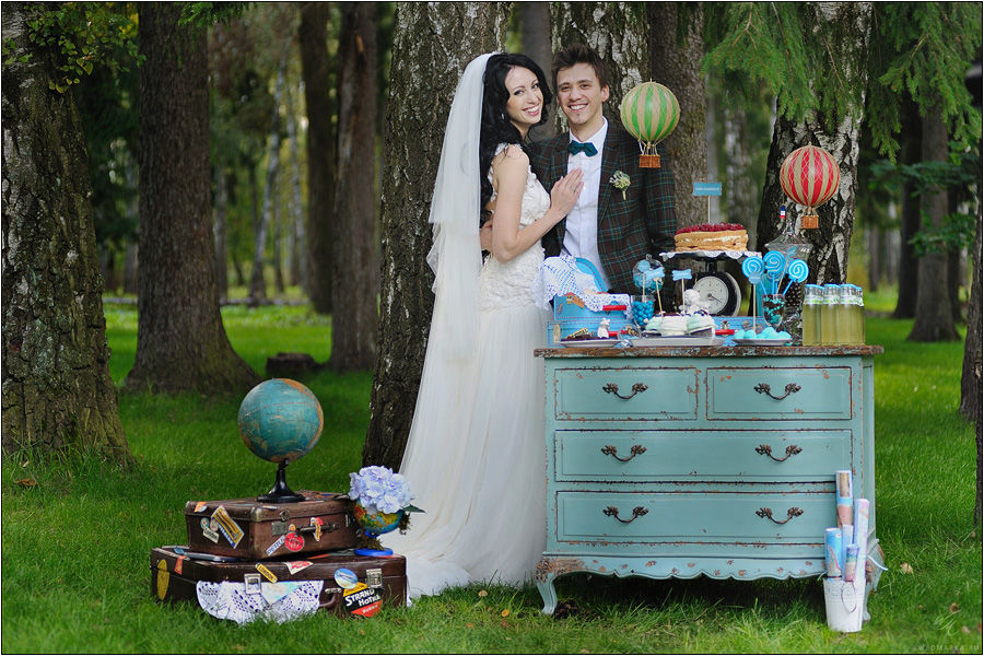 Милена и Константин, свадьба в стиле путешествия.