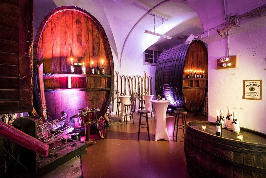 Party Set Up at historic Wine Cellar of Grand Hotel Kronenhof