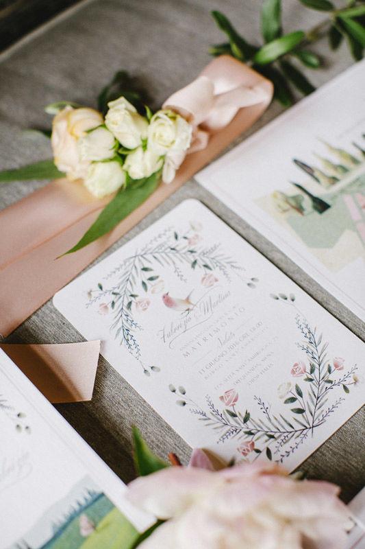 Invito: Illustrazioni per un matrimonio romantico - foto di Les Amis Photo