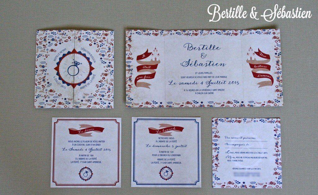 Faire-part de mariage : les contes enfantins