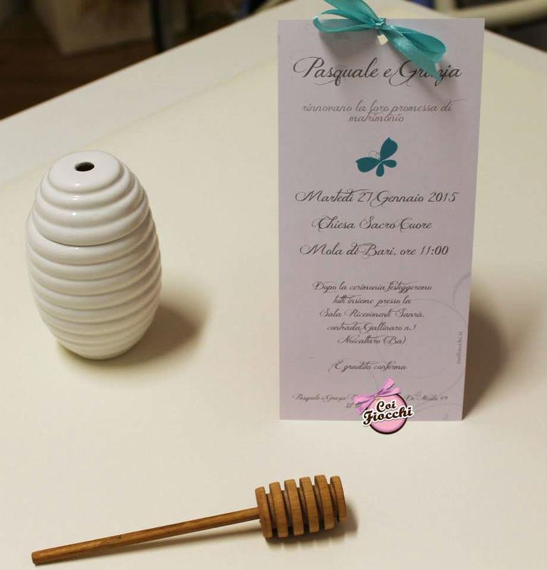 Coi Fiocchi wedding design - invito Tiffany&argento