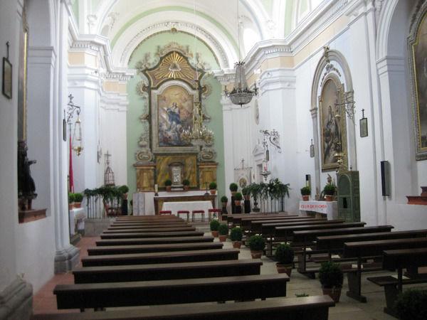 Decoración floral de la Iglesia