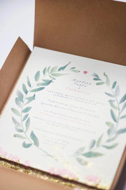 Design exemplo de convites