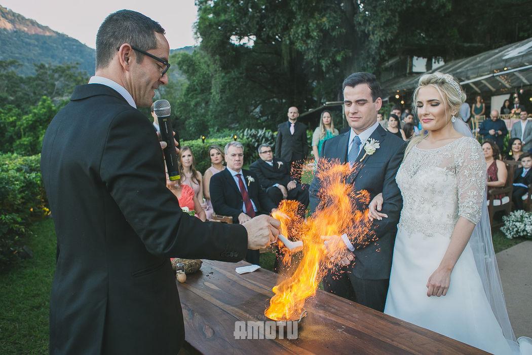 Linda cerimônia realizada na Casa de Santa Teresa, pelo querido Maurício Erhlich