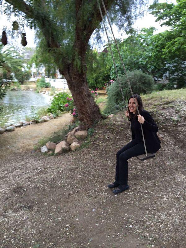 María Ruz relajándose tras un evento