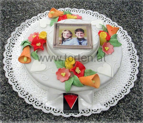 Beispiel: Ihre persönliche Hochzeitstorte, Foto: Hanauer Schoko & Torten Bio.