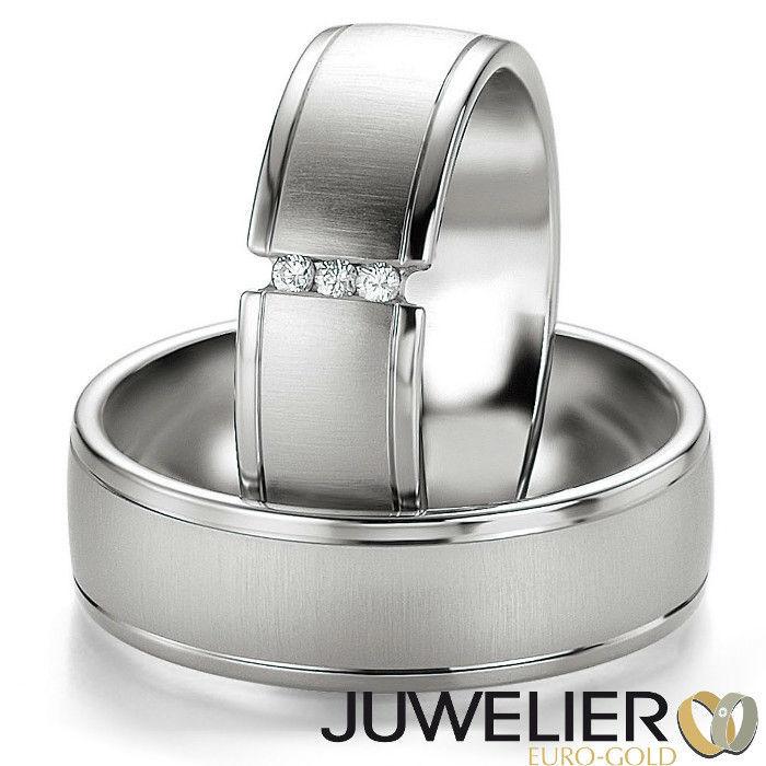 Beispiel: Ringe aus Palladium, Foto: Juwelier Euro-Gold.