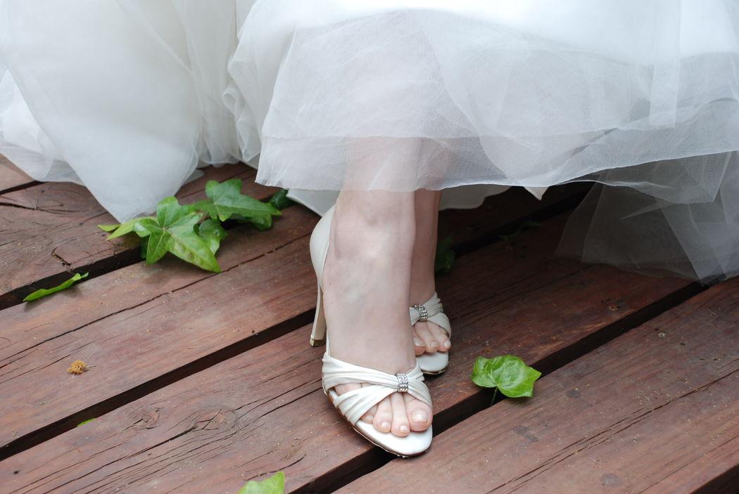 Zapato modelo Desire taco de 12 centimetros color ivory