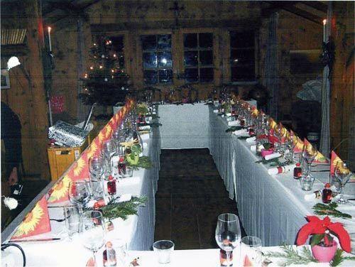 Beispiel: Hochzeitsbankett, Foto: Lola Montez Haus.