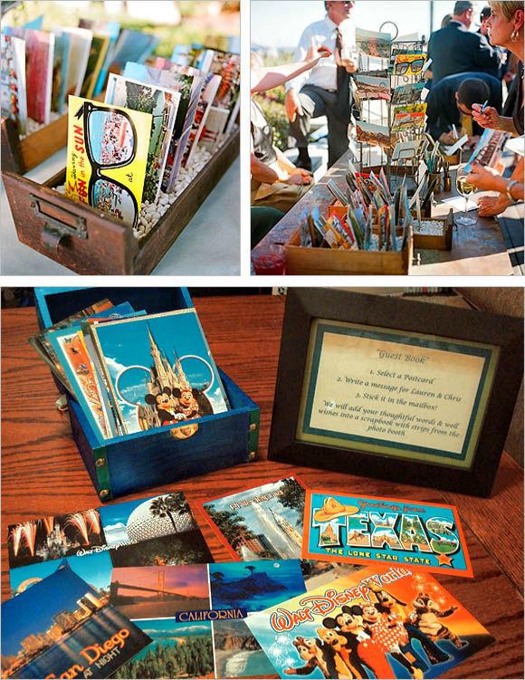 Alternative Guestbook Idea - Cassetta con cartoline personalizzate per raccogliere dediche e firme dei vostri invitati