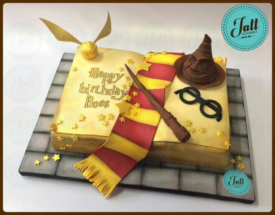 Pastel en 3D con el tema Harry Potter
