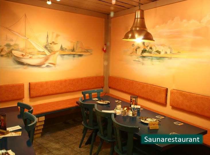 Beispiel: Saunarestaurant, Foto: Hotel Rheinsberg am See.