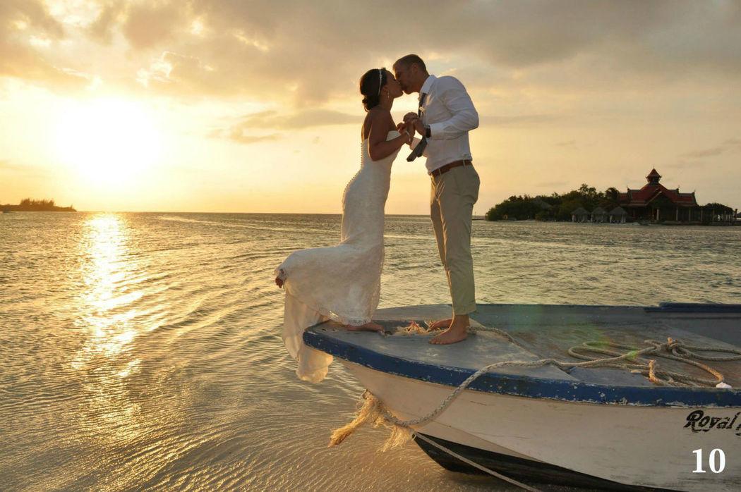 Beispiel: Brautpaar, Foto: Sandals Resorts International.